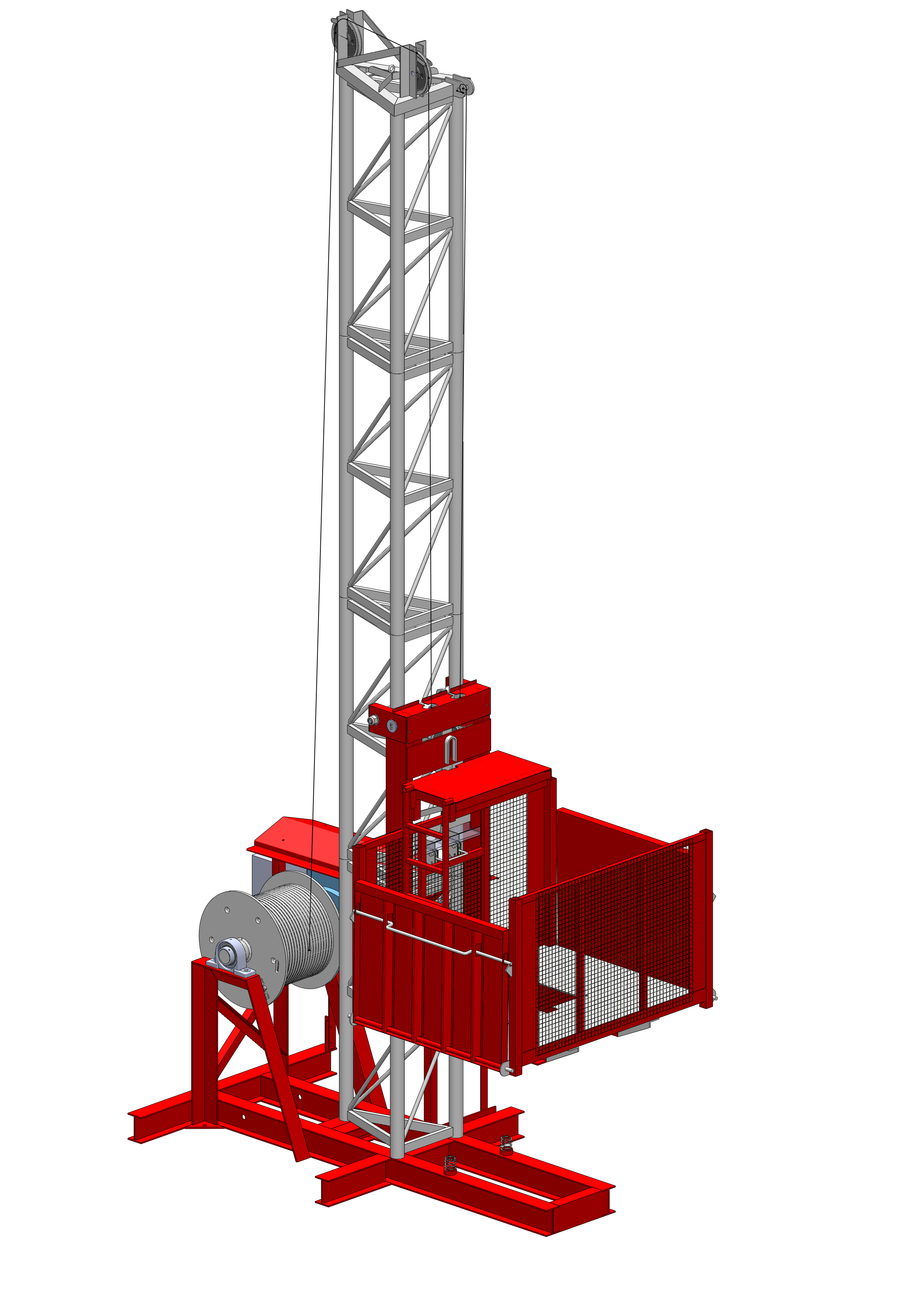 Wickham GR1000-2 material hoist is a highly efficient
